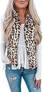 Womens Fuzzy Sherpa Fleece Jacket Lightweight Vest Cozy...