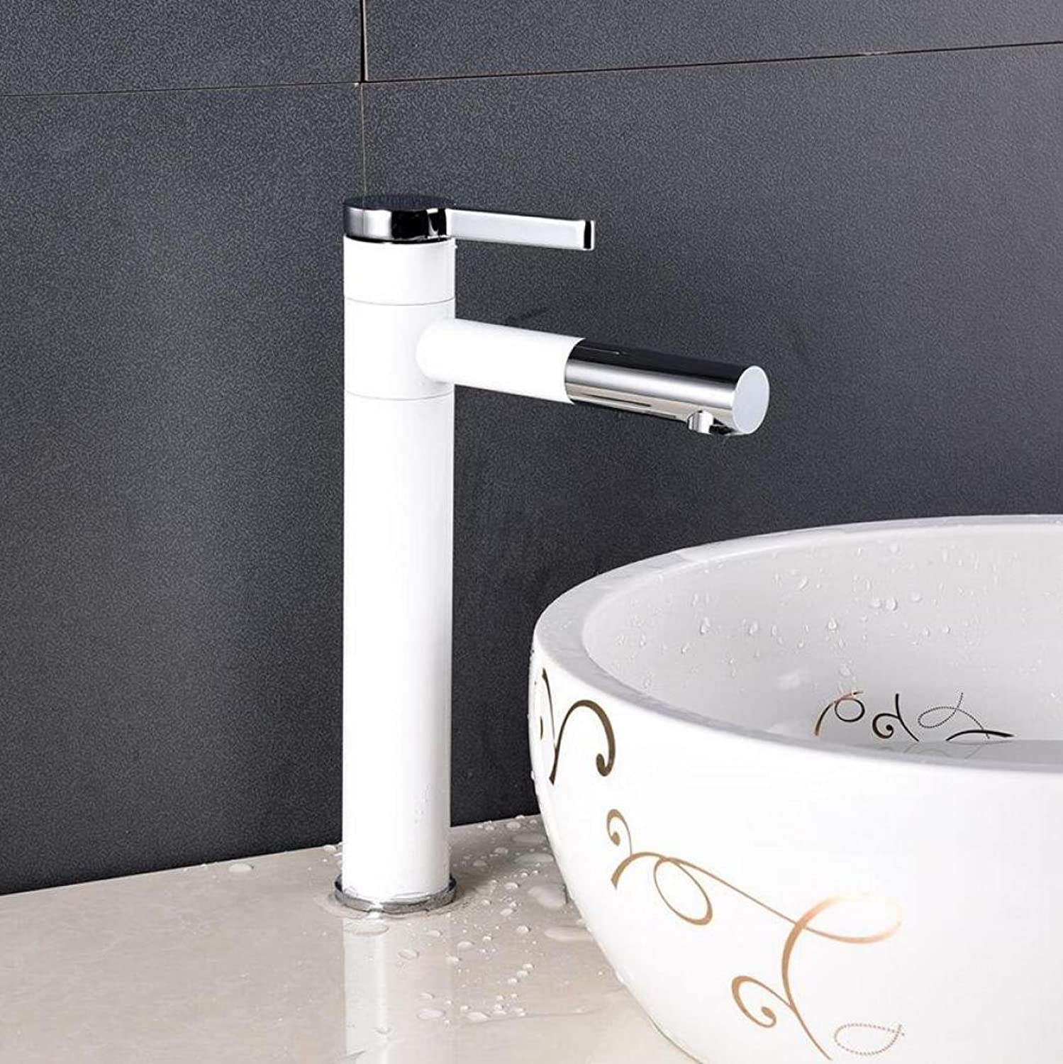 1411 Washbasin Faucet Bathroom Basin Washbasin Swivel Faucet Lavatory Mixer Tap Paint Finished XQQQ