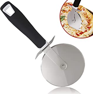 Zulay Pizza Cutter Wheel - Super Sharp Stainless Steel Pizza Wheel - Premium Pizza Slicer - Large Wheel Handles Large or Small Pizza with Ease