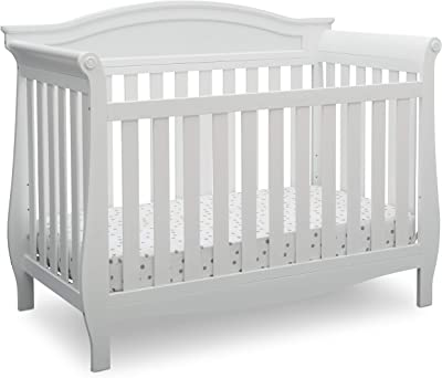 Full Size Conversion Kit Bed Rails for Delta Childrens Lancaster Crib Bianca White
