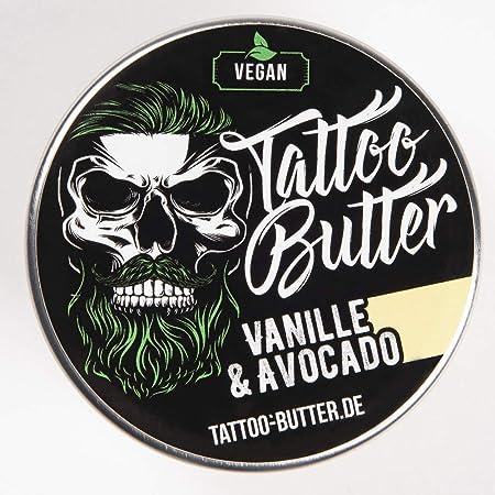 Tattoo Butter Vanille & Avocado - Kerle & Mädelsversion - 80ml vegane Tattoopflege