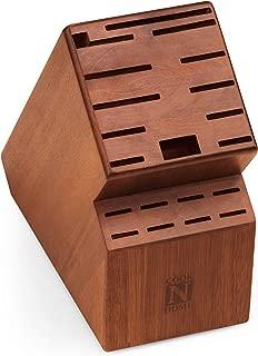 Cook N Home 02660 knife storage block 20 slots, Acacia wood