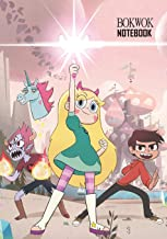 Notebook: Star vs. the Forces of Evil Medium College Ruled Notebook 129 Pages Lined 7 X 10 in (17.78 X 25.4 CM)