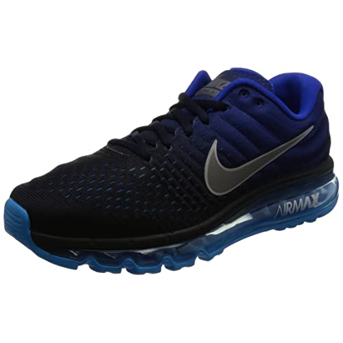 huge selection of 6ed85 6f562 Nike Mens Air Max 2017 Running Shoes Dark Obsidian White Royal Blue 849559-