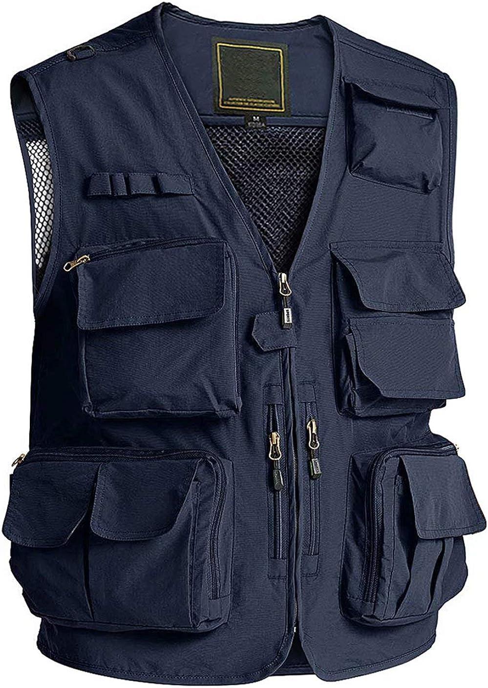 MAGCOMSEN Men's Outerwear Vests Casual Work Outdoor Multi P Vest Max Great interest 58% OFF