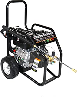 Erie Tools 4.5 GPM 3600 PSI Cold Water High Pressure Power Washer 6.5 HP Gasoline Engine with Gun Wand Hose and Nozzles