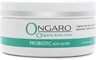 Ongaro Organic Body Butter with Probiotic Technology, Organic Aloe Vera, Apple Stem Cells, and Peptides restores, softens,...