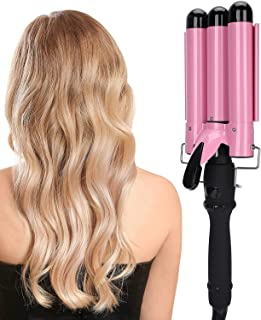 Hair Styling Tool, Hair Curler Waver, Hair Styling Hair Curlers, Hair Roller Curlers, Triple Pipe LCD Hair Curling Iron Wa...