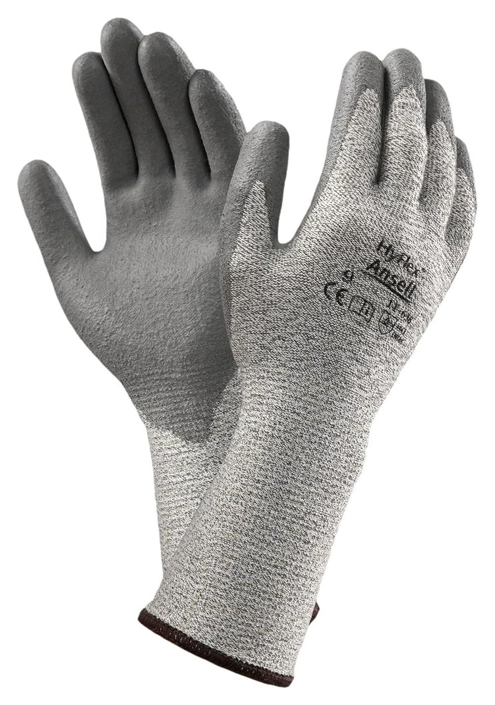 なぜ担保キャンパスAnsell HyFlex 11-638カット保護手袋、機械的保護、グレー、サイズ10(12ペアのパック)