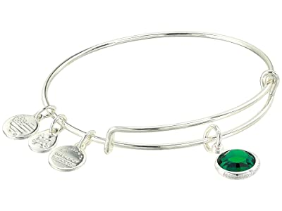 Alex and Ani Swarovski Color Code Bangle Bracelet (May/Emerald Color/Shiny Silver) Bracelet