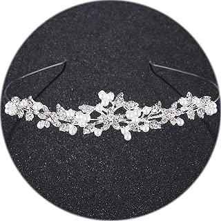 Memoirs- Tiara Headband For Wedding Leaves Crystal Crown Tiara Headdress For Women Fashion Bridal Hair Accessories Rim For Hair