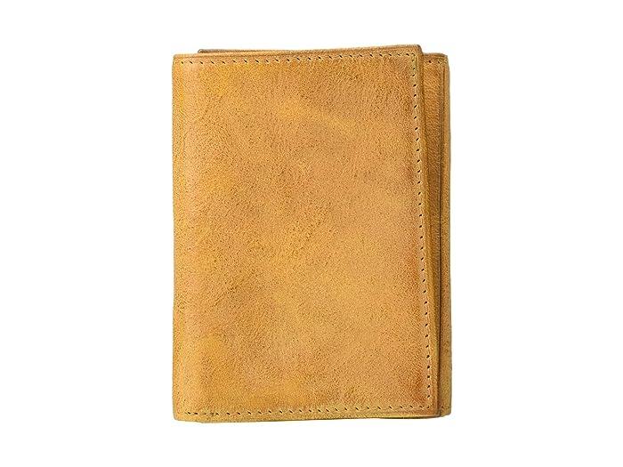 Bosca  RFID Waxy Burnishing Double ID Trifold (Tan) Wallet