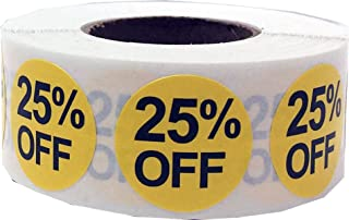 25% Percent Off Stickers for Retail 0.75 Inch 500 Adhesive Labels