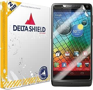 DeltaShield Screen Protector for Motorola Luge (Droid Razr M)(2-Pack) BodyArmor Anti-Bubble Military-Grade Clear TPU Film