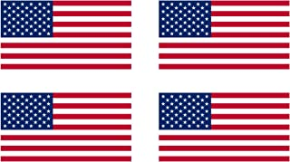 """4 Pack American Flag Patriotic Stars and Stripes Auto Decal Bumper Sticker 5x3"""" - Industrial Strength Vinyl Decal For Cars, Trucks, RV, SUV's & Boats - Support US Military (4x Original)"""