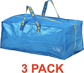 Ikea Frakta Storage Bag - Blue -- SET OF 3