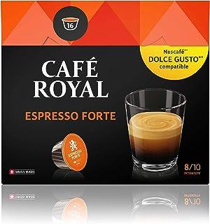 Café Royal Espresso Forte 48 dosettes Compatibles avec le Système NESCAFE (R)* Dolce Gusto (R)*, Intensité 8/10; (Lot de 3...