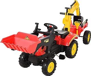 HOMCOM Tractor a Pedales con Remolque Excavador con Pala Fro