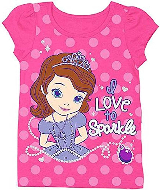 Disney Sofia The First Little Girls' Toddler Short Sleeve Tee Shirt Pink