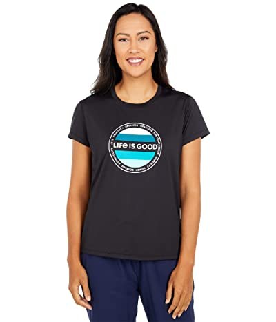 Life is Good Active Tee (Jet Black) Women