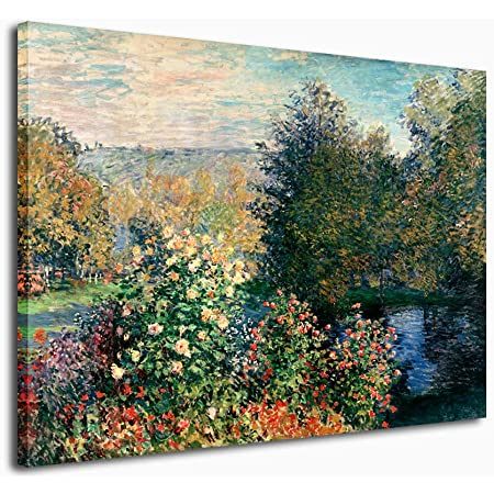 Amazon Com The Artist S Garden In Argenteuil Artwork By Claude Monet 35 By 47 Inch Canvas Wall Art Posters Prints