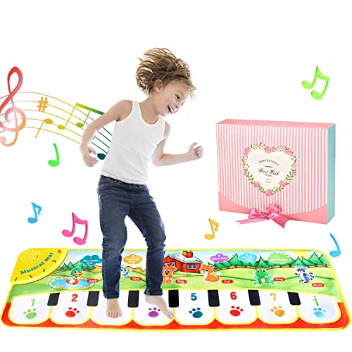 Educational Baby Piano with Animal Sounds Musical Toy Mat for Young Kids