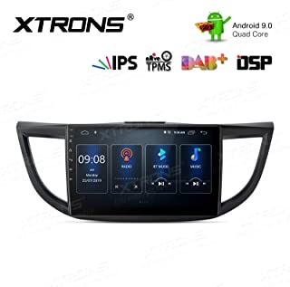 XTRONS Android 9.0 Car Stereo Radio Player 10.1 Inch IPS Touch Screen GPS Navigation Built-in DSP Bluetooth Head Unit Supports Full RCA Output Backup Camera WiFi OBD2 DVR TPMS for Honda CR-V 2012-2016