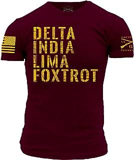 Grunt Style Delta India Lima Foxtrot - Men's T-Shirt Maroon