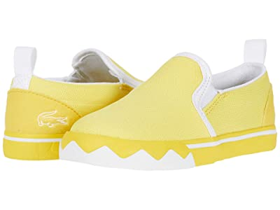 Lacoste Kids Gazon Croco 220 1 (Toddler/Little Kid) (Yellow/White) Kid