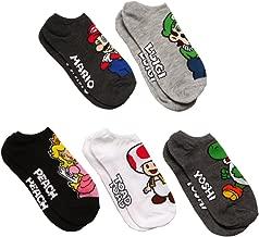 Nintendo Super Mario Bros. Princess Peach 5 Pk No Show Socks