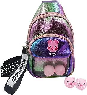 RARITYUS Holographic Crossbody Bag Clear Cute Toys Sling Bag Shiny Shoulder Purse Phone Pouch Casual Handbag