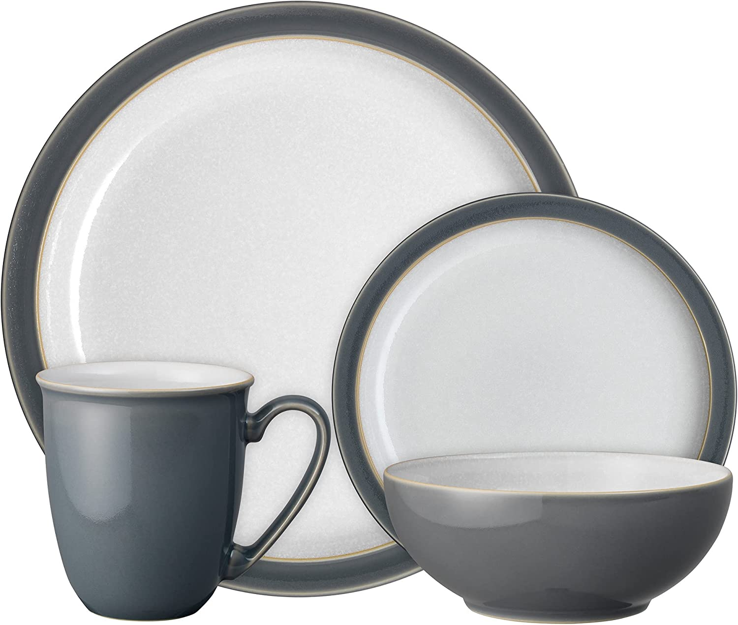 Denby Elements Fossil Grey Piece Set 4 Ranking low-pricing TOP20 Dinnerware