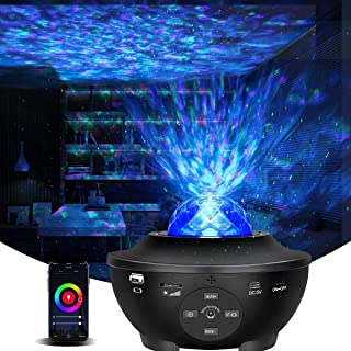 Galaxy Projector Star Projector Night Light with Bluetooth Music Speaker and Remote Control Smart APP Work with Alexa Google Home Galaxy 360 Pro Star Projector for Ceiling Bedroom for Baby Kids Adult
