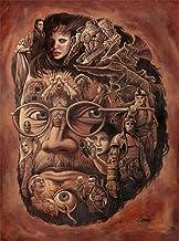 AXKQ Guillermo del Toro art exhibition, DIY 5D diamond painting, round diamond cross stitch, full set of painting tools, home decoration(11.8x15.8inch)