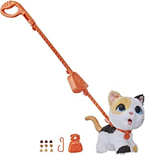 FurReal Poopalots - Big Wags Cat - I Poop - Interactive Plush Pet Kitten - Connectible Leash System - Interactive Toys for...