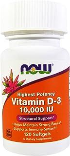 Now Food Vitamin D-3, 10,000 Iu, 120 Soft Gels
