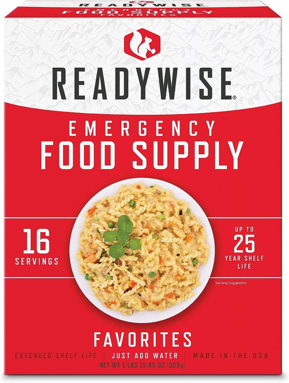 ReadyWise Favorites Sample Emergency Survival Freeze Dried Food