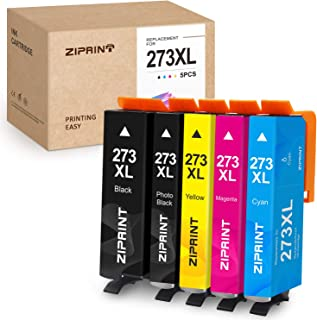 ZIPRINT Remanufactured Ink Cartridge Replacement for Epson 273XL 273 T273 XL for Expression XP-800 XP-810 XP-820 XP-600 XP-610 XP-620 XP-520 Printer (Black Cyan Magenta Yellow Photo Black, 5-Pack)
