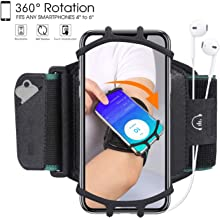 HC Running Armband,360°Rotatable Sports Armband for iPhone X/iPhone 8 Plus/ 8/7 Plus/ 6 Plus/ 6, Galaxy S8/ S8 Plus/ S7 Edge, Note 8 5, Google Pixel,Phone Armband for Hiking Biking