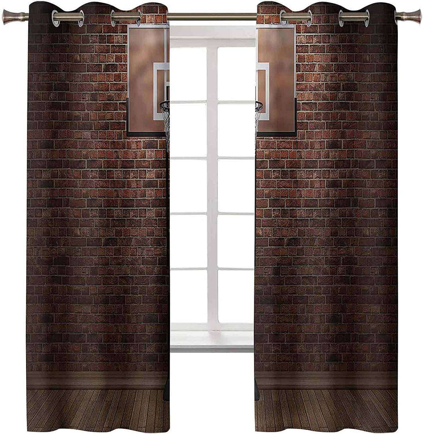 Long-awaited Basketball Black Out Curtains Set of Indefinitely 2 x 72L Inch So 42W Panels