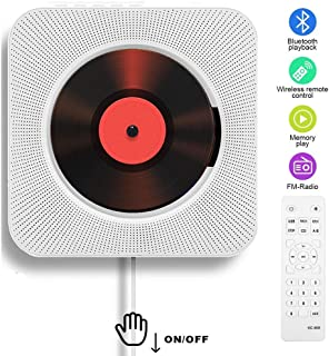 Lecteur CD Portable, Bluetooth, Montage Mural, Haut-parleurs HiFi intégrés, Home Audio..