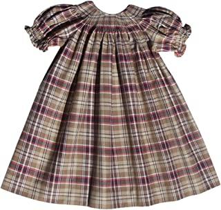 Warning!! Ready to Smock Girls Thanksgiving Plaid Dress for Fall and Winter