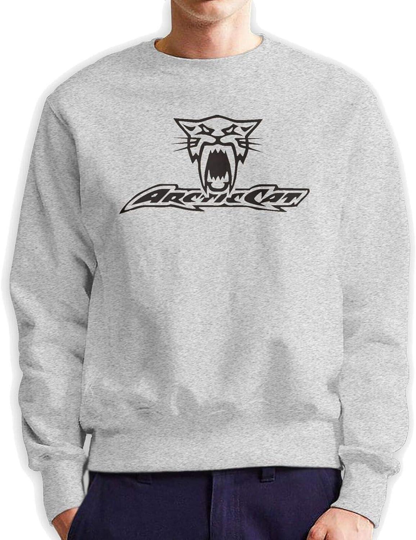 Arctic Cat Cool Men's Quantity limited Sweatshirt Long Max 42% OFF Fashio Crewneck Sleeve