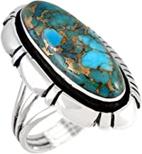 Sterling Silver 925 Ring with Genuine Turquoise (SELECT color)