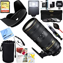 Nikon AF-S NIKKOR 70-200mm f/2.8E FL ED VR Zoom Lens (20063) + 64GB Ultimate Filter & Flash Photography Bundle