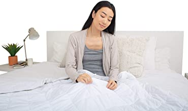 78 Home Weighted Blanket (15 lbs, 60''x80'')   100% Cool Premium Cotton   Evenly Weighted Glass Bead Technology