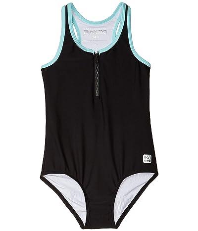 reima Swimsuit Aruba (Toddler/Little Kids/Big Kids) (Black) Girl