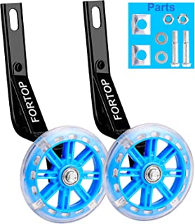 FORTOP Bicycle Training Wheels Heavy Duty Rear with Stabilizers Mounted Kit for Kids Boy Girls Bikes of 12 14 16 18 20 Inch