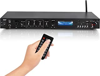 Pyle Rack Mount Studio Pre-Amplifier - Audio Receiver System w/Digital LCD Display Bluetooth FM Radio Recording Mode Remot...