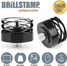 DRILLSTAMP Bohrhilfe zur Markierung von Bohrlöchern | Für Bilder, Lampen, Regale etc, kein umständliches Ausmessen mehr | Aufstecken, andrücken, bohren (2 Stück)